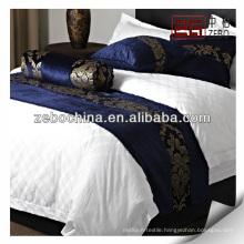 Supply various design bed runner for hotel