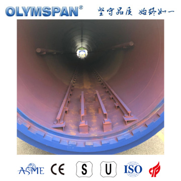 Autoclave de traitement de brique AAC de ciment standard ASME