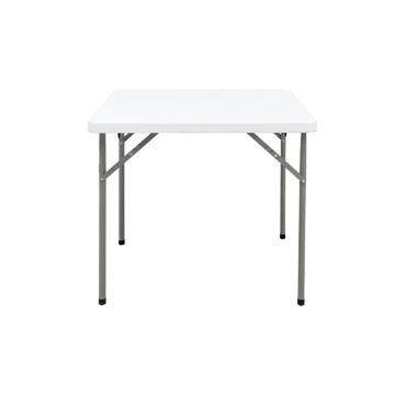 Table carrée en plastique pliante 86cm, blanc