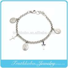 TKB-B0066 Bracelet en argent de première communion catholique avec bijoux