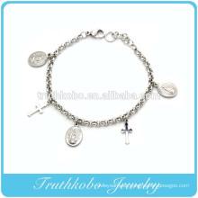 TKB-B0066 Silver Catholic First Holy Communion Bracelet Jewelry