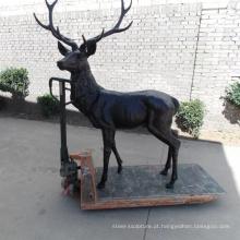 escultura de jardim moderno metal ofício bronze cervo estátua de bronze