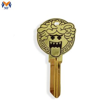 Encantos feitos sob encomenda do logotipo da forma da chave do metal