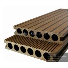 Plancher extérieur composé en plastique en bois anti-UV de Decking de WPC