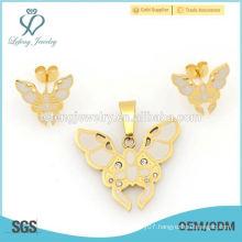 Wholesale price wedding locket & earrings jewelry sets for women