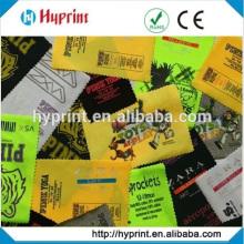 Etiquetas de transferência de calor para o cuidado de roupas etiqueta de transferência