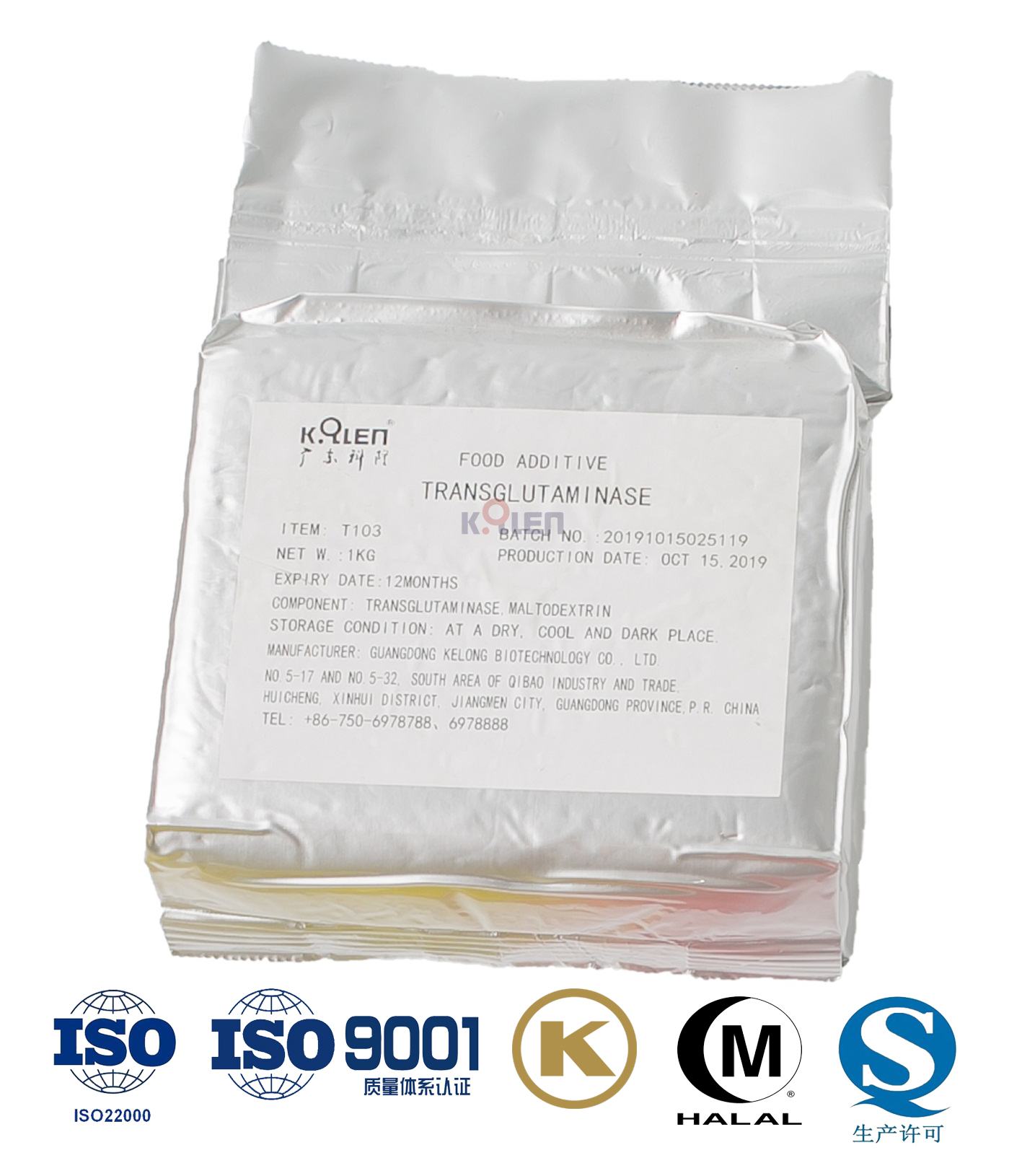Transglutaminase enzyme in Powder