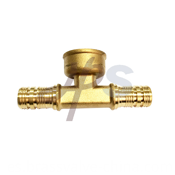 Brass Pex Female Tee Fitting He846