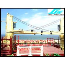 CCS ABS BV Marine Bulk Cargo Ship Deck Crane