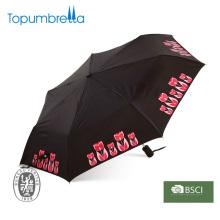 Parapluie automatique droit en fibre de verre de 23 pouces avec poignée en plastique