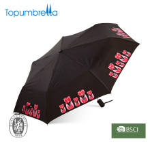Auto open and close printed folding advertising umbrella