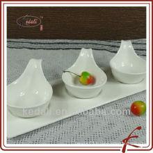 Ensemble à dîner en céramique en porcelaine blanche à chaud