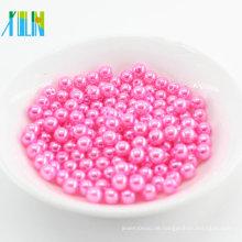 China Factory Supply Lose Runde Faux Perle Kunststoffperlen für Hochzeit DIY Schmuck Zubehör