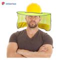 Venta caliente de Alta Visibilidad Reflectante Ala Completa Transpirable Sombrero Duro Malla Redonda Para Cuello Flap Casco Sombrilla