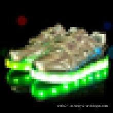 Wechselbare Farbe USB-Lade-Glow Boys führte Schuhe zum Laufen