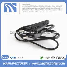 Flat EU 2 Prongs Type8 Laptop AC Power Kabel