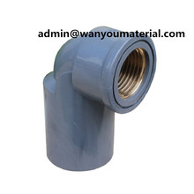 Neueste-Sch80 PVC Rohr Kupfer Gewinde 90deg Ellenbogen