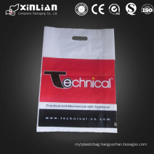 customized die cut plastic shopping bag
