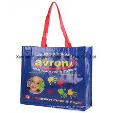 Werbe-benutzerdefinierte bedruckte Werbung PP Kunststoff gewebte Tasche