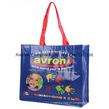 Promotional Custom Printed Advertising PP Plastic Woven Tote Bag
