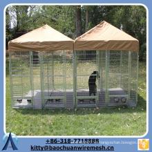 Baochuan - Cubierta en polvo de tubo cuadrado de 2 jaulas de 2 puertas
