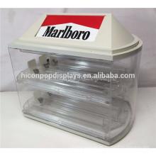 2-estantes 6 empujadores 8 ranuras de venta al por menor de la tienda de la venta de la vendimia de la venta al por menor de acrílico de cigarrillos