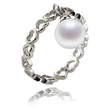 Sterling Silver Top Sales Freshwater Pearl Ring