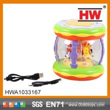 Espanhol IC Bateria Operação Musical Bebé Mão Electric Drum
