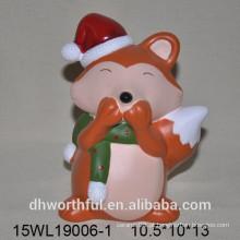 Fox decoração em cerâmica multi-color