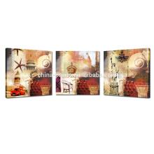 Neue Weinlese-Wand-Kunst für Fall- / Triptychon-Segeltuch-Druck für Dekor- / Giclée-Druck-Abbildung