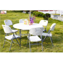 Atacado 4ft 48inch Round Plastic Folding Dining Table para Eventos, Casamento