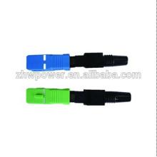 SC connecteur rapide fibre optique APC, connecteur rapide SC upc optique, connecteur rapide SC