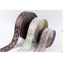 Printed Custom Logo Designs Woven Edge 100% Polyester Satin Ribbon