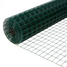 Long service life PVC Coated dark green welded mesh roll for fence