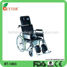 Steel Reclining Wheelchair with commode