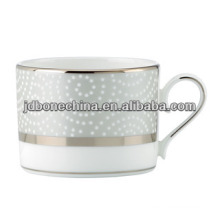 simple and easy golden bone china embossed coffee cup