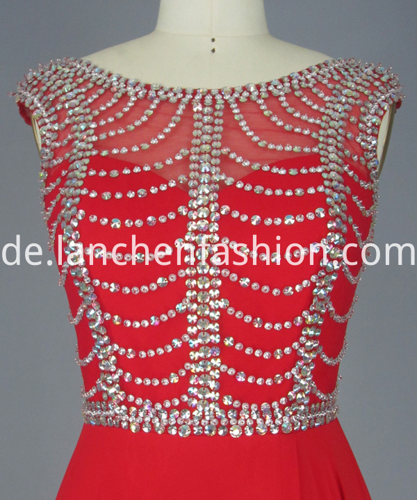 Red Chiffon Dress Long