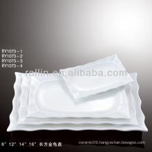special white rectangular porcelain plate