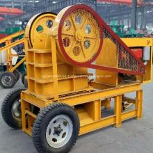 Máquina de trituradora de mandíbula de trituración de piedra de motor diesel