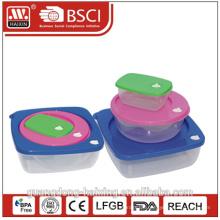 Kunststoff dicht Bento Lunchbox mit Fächern, Seite sperren Beto Lunch-Box, billig Großhandel Bento-Lunch-box
