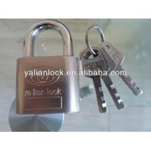 Nickle plated big round corner iron padlock