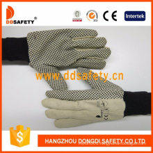 PVC Dotted Canvas Cotton Industrial Safety Work Gloves