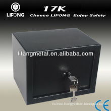 Small steel safe box with mechanical key