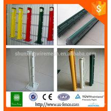 Poteau de clôture en poudre de production professionnel / poteaux d'escrime métalliques amovibles