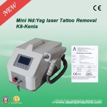 Profissional Q Switch ND YAG máquina laser para remoção de tatuagem
