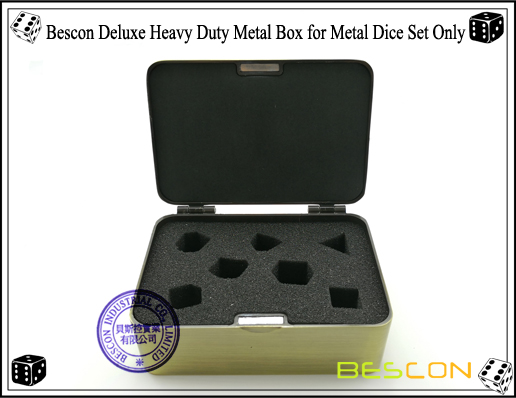 Bescon Deluxe Heavy Duty Metal Box for Metal Dice Set Only-5