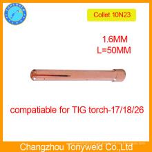 10N23 soldador tig torch collet 1.6mm para máquina de soldar