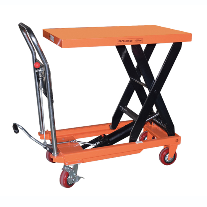 manual mobile scissor lift trolley