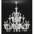 Elegance White Glass Chandelier Pendant Light (81086-12+6)