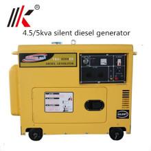 5.0kva silent diesel generator price for kenya POWERGEN Industrial use small Sound Proof diesel generator silent style